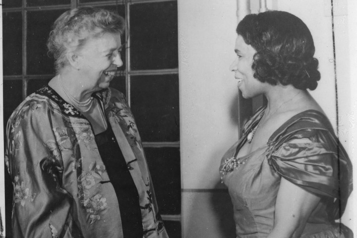 Eleanor Roosevelt & Marian Anderson 1953, source: National Archives