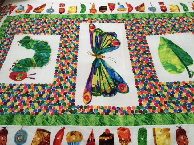 My Handmade Very Hungry Caterpillar Quilt, photo by Heidi M. Kim