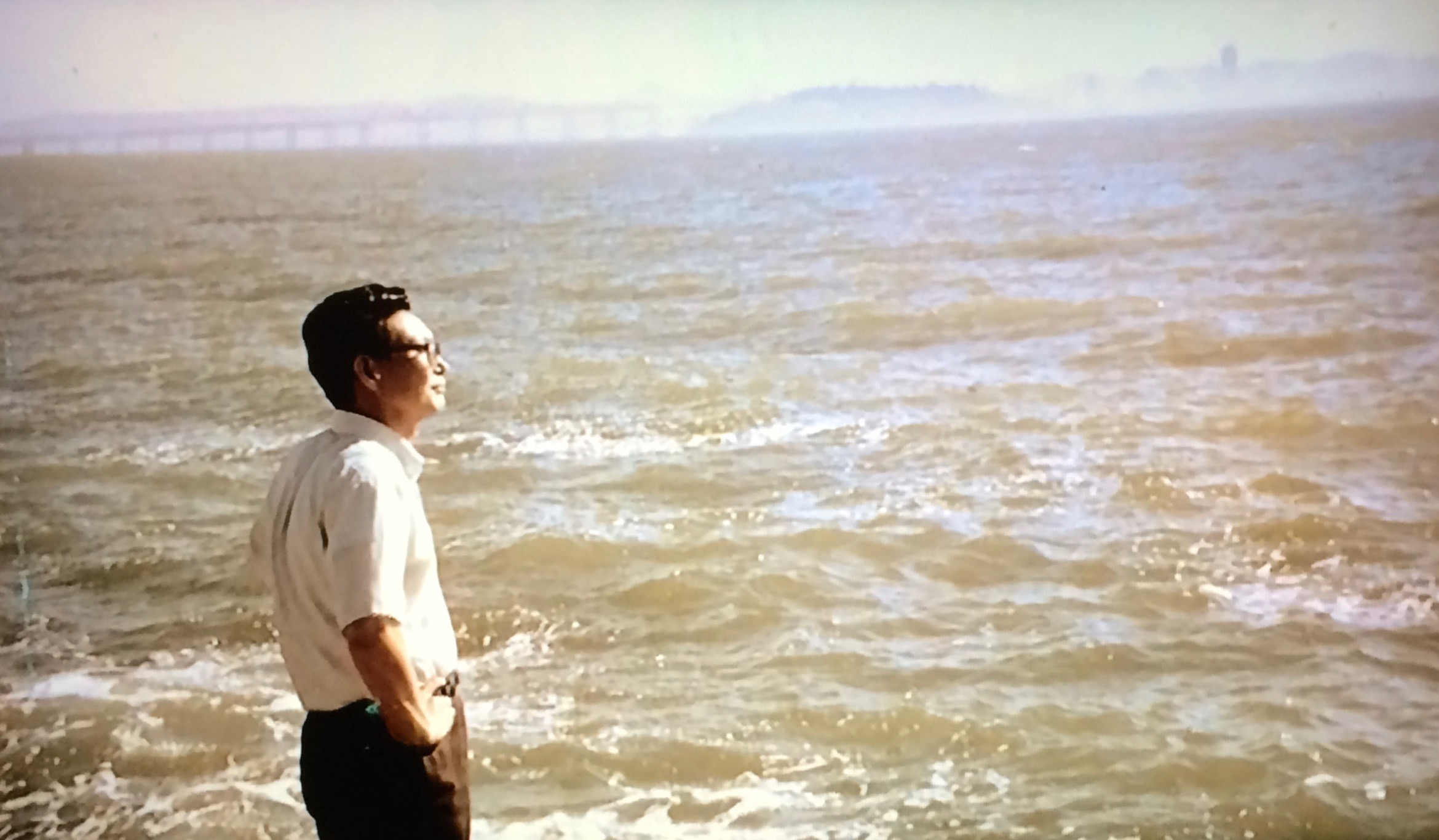 My father at Berkeley looking out over the bay, copyright Heidi M. Kim