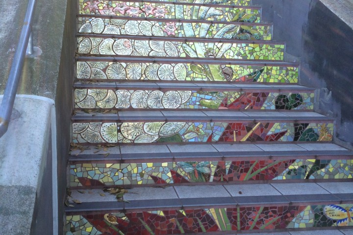 16th Avenue Tiled Steps in San Francisco, photo by Heidi M. Kim