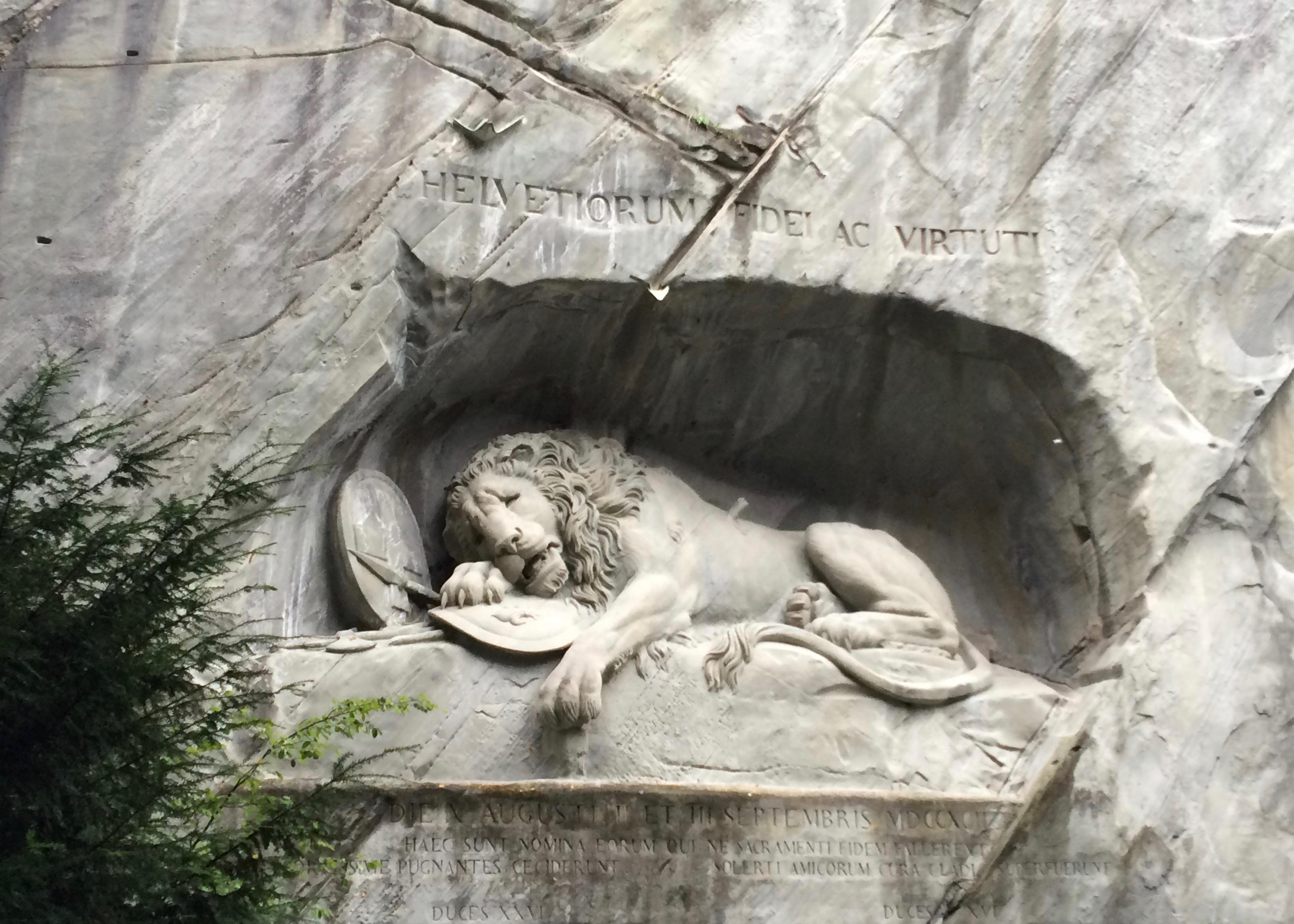 Löwendenkmal in Luzern, Switzerland, photo by Heidi M. Kim
